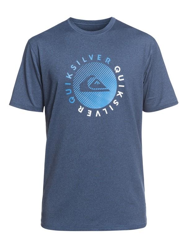 0 Razors Short Sleeve UPF 50 Surf Tee Blue EQYWR03166 Quiksilver