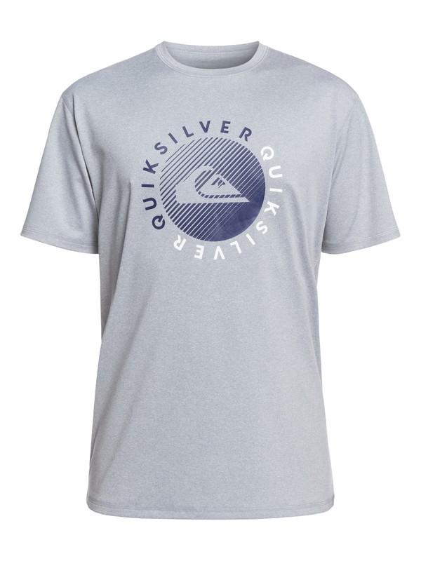 0 Razors Short Sleeve UPF 50 Surf Tee Grey EQYWR03166 Quiksilver