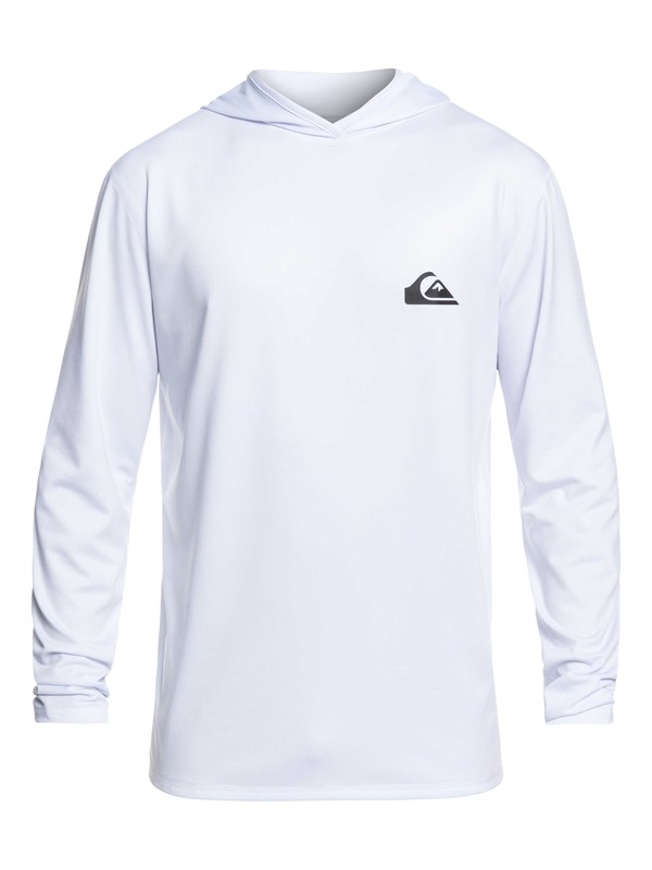 0 Dredge Long Sleeve UPF 50 Hooded Surf Tee White EQYWR03167 Quiksilver