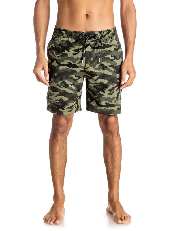 """0 Shorts de 19"""" con Cintura  Camo Amphibian  EQYWS03362 Quiksilver"""