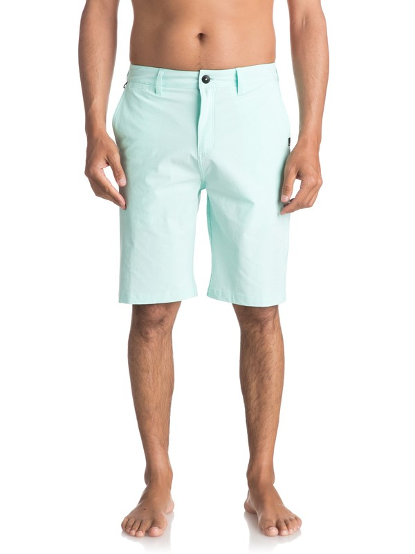 "0 Union Heather Amphibian 21"" Amphibian Shorts Blue EQYWS03440 Quiksilver"