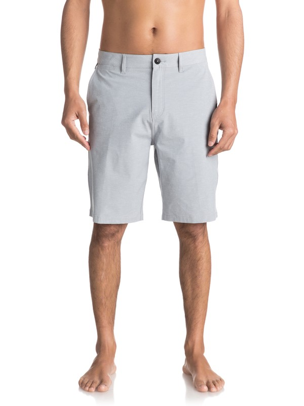 "0 Union Heather Amphibian 21"" Amphibian Shorts Grey EQYWS03440 Quiksilver"