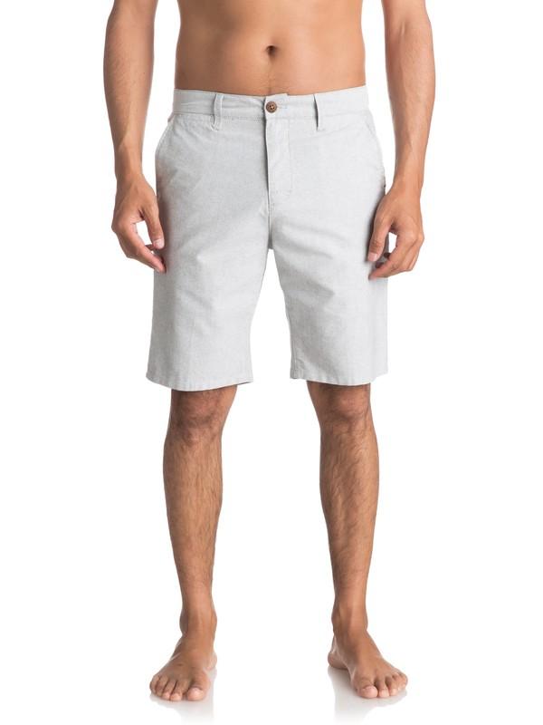 0 Krandy Oxford Chino Shorts Green EQYWS03448 Quiksilver