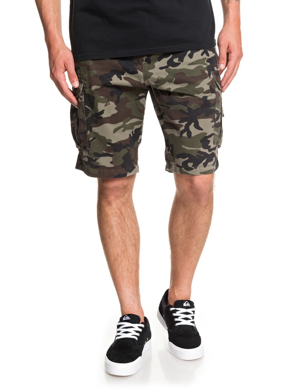 0 Men's Crucial Battle Cargo Shorts Green EQYWS03456 Quiksilver