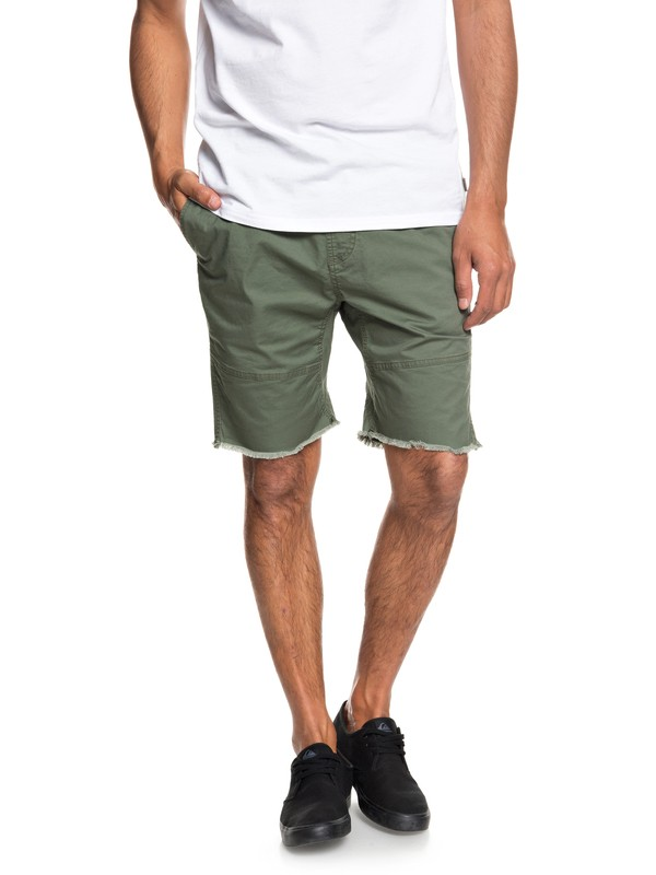0 Foxoy Straight Tapered Shorts Brown EQYWS03461 Quiksilver