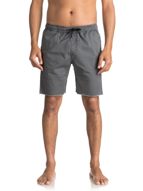 0 Men's Foxoy Straight Tapered Shorts Black EQYWS03461 Quiksilver