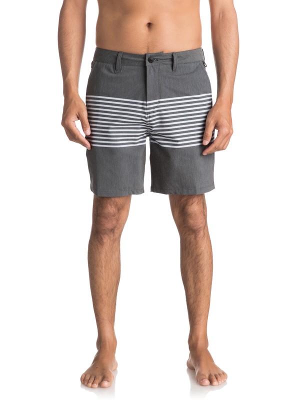 "0 Men's Echo Stripe Amphibian 18"" Shorts Black EQYWS03466 Quiksilver"
