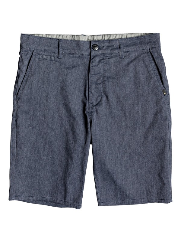 "0 New Everyday Union 21"" Chino Shorts Blue EQYWS03469 Quiksilver"