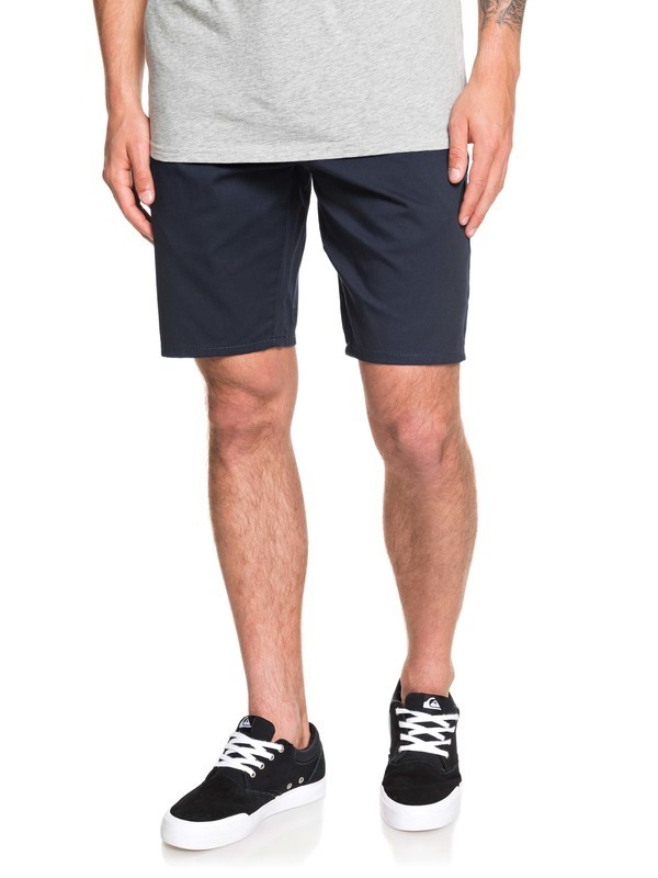 """0 New Everyday Union 21"""" Chino Shorts Blue EQYWS03469 Quiksilver"""
