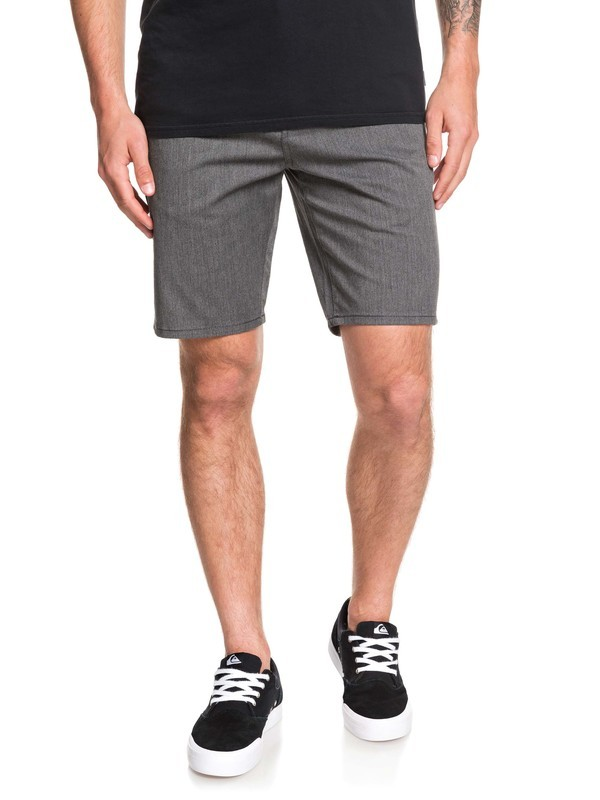 "0 New Everyday Union 21"" Chino Shorts Black EQYWS03469 Quiksilver"