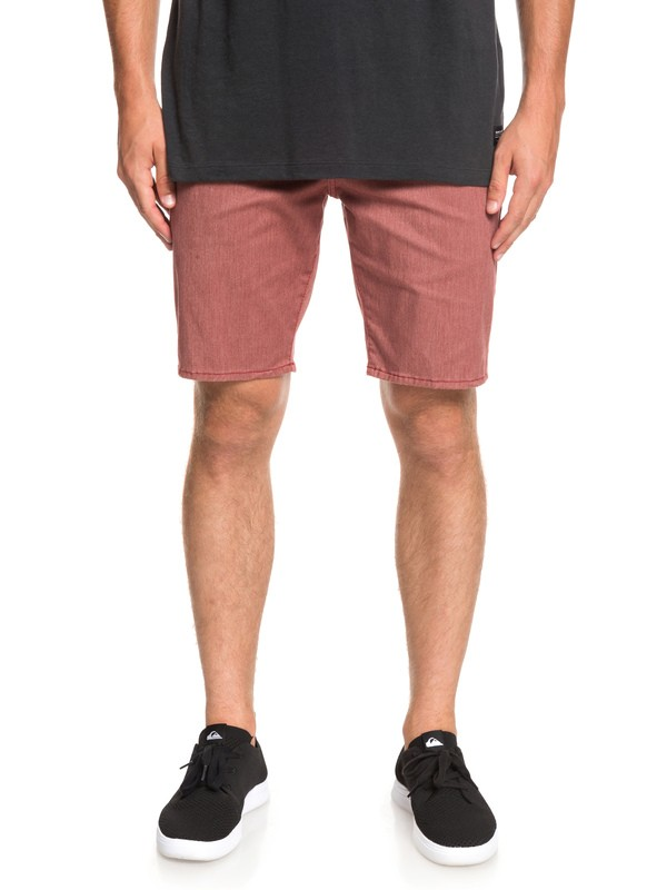 "0 New Everyday Union 21"" Chino Shorts Red EQYWS03469 Quiksilver"