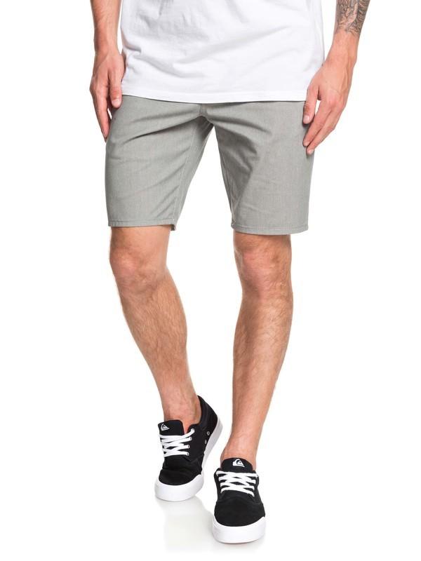 "0 New Everyday Union 21"" Chino Shorts Grey EQYWS03469 Quiksilver"