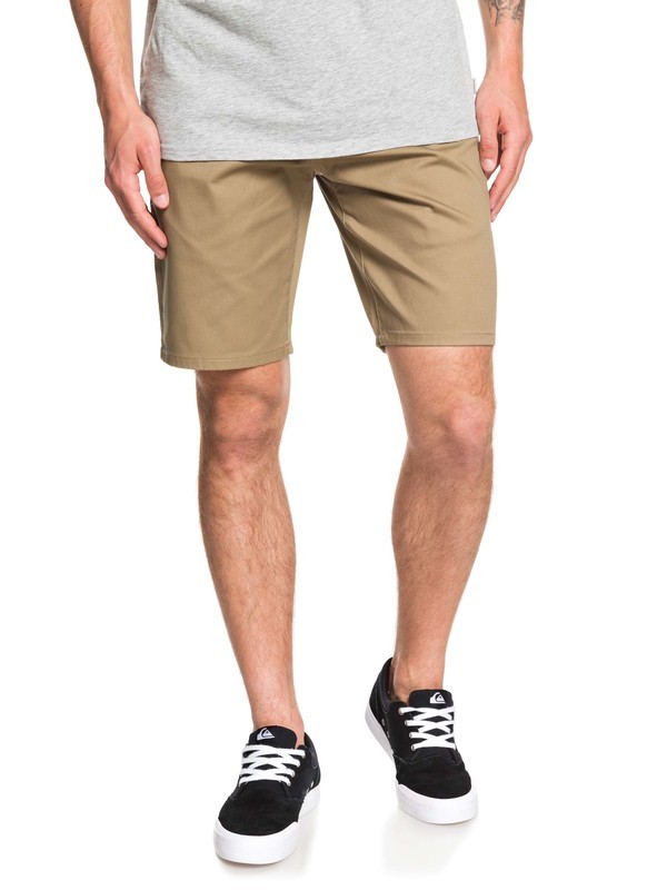 "0 New Everyday Union 21"" Chino Shorts Beige EQYWS03469 Quiksilver"