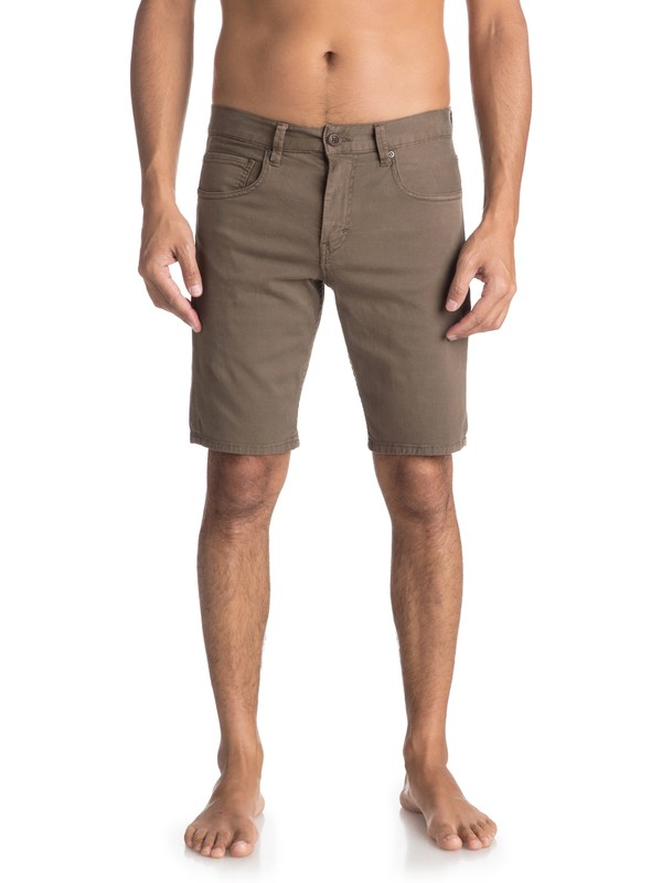 0 The Layback - Chino Shorts for Men Brown EQYWS03470 Quiksilver