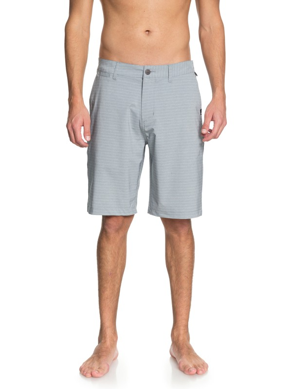 "0 Union Stripe 21"" Amphibian Shorts Grey EQYWS03486 Quiksilver"