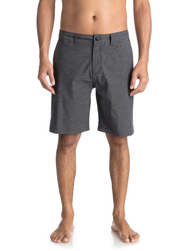 "0 Union Heather 20"" Amphibian Shorts Black EQYWS03488 Quiksilver"