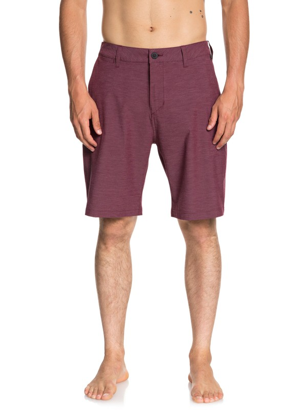 "0 Union Heather 20"" Amphibian Shorts Red EQYWS03488 Quiksilver"