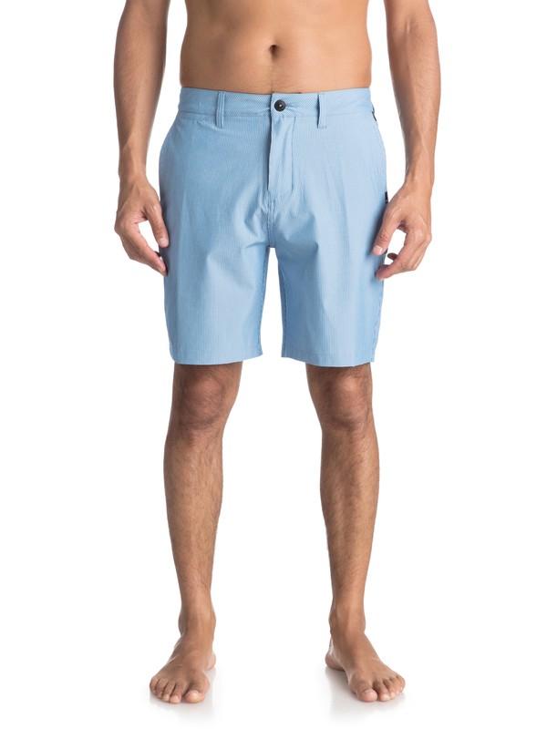 "0 Union Pinstripe 19"" - Amphibian Board Shorts for Men Blue EQYWS03490 Quiksilver"