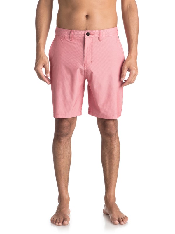 "0 Union Pinstripe 19"" - Amphibian Board Shorts for Men Pink EQYWS03490 Quiksilver"