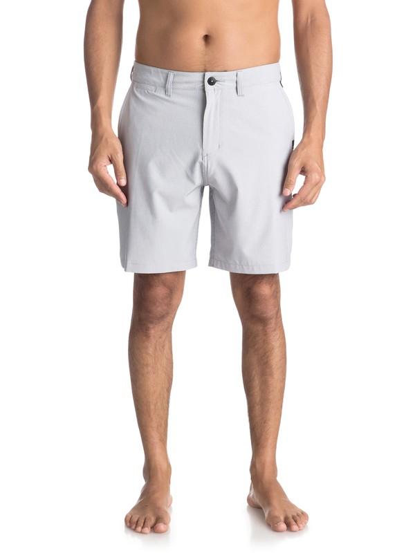 "0 Union Pinstripe 19"" - Amphibian Board Shorts for Men Grey EQYWS03490 Quiksilver"