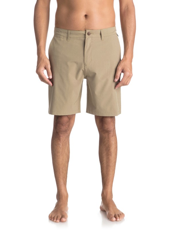 "0 Union 19"" - Amphibian Board Shorts for Men Beige EQYWS03492 Quiksilver"