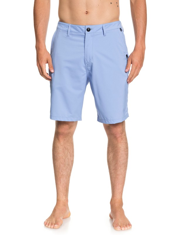 "0 Men's Transit Twill Amphibian 20"" Amphibian Shorts Blue EQYWS03494 Quiksilver"