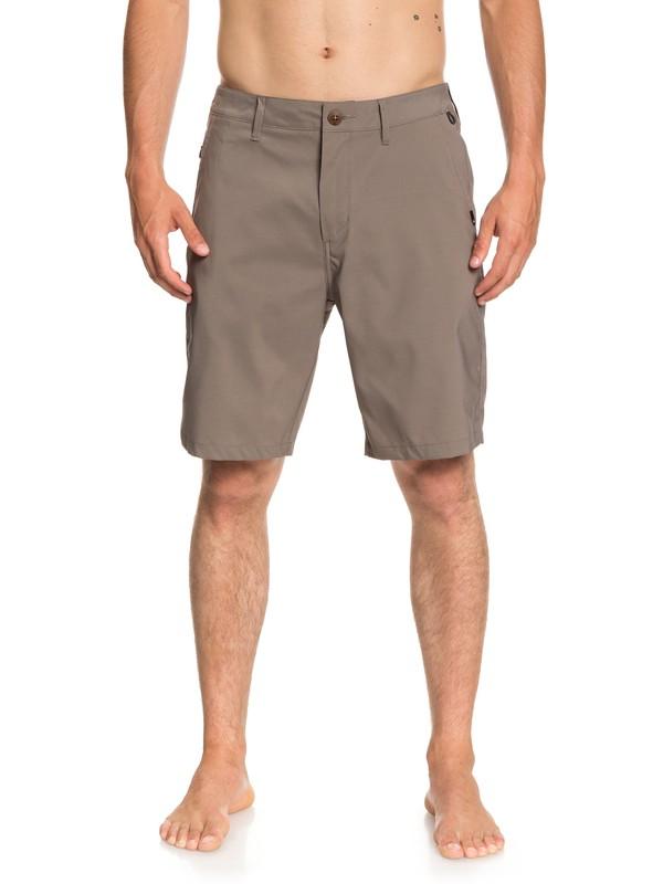 """0 Transit Twill 20"""" Amphibian Boardshorts Grey EQYWS03494 Quiksilver"""
