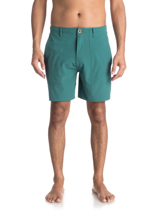"0 Tactics 18"" - Amphibian Board Shorts for Men Green EQYWS03495 Quiksilver"