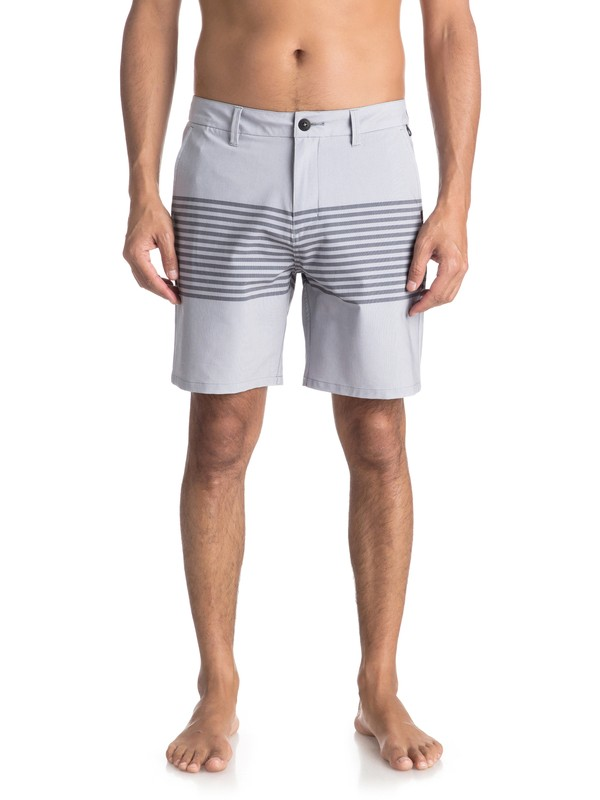 "0 Echo Stripe 18"" - Amphibian Board Shorts for Men Black EQYWS03498 Quiksilver"