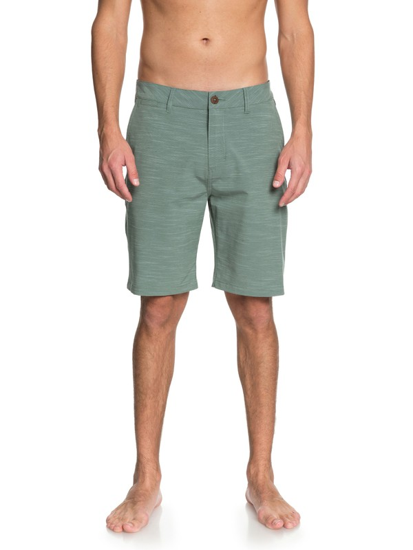 "0 Union Slub 20"" Amphibian Shorts Green EQYWS03501 Quiksilver"