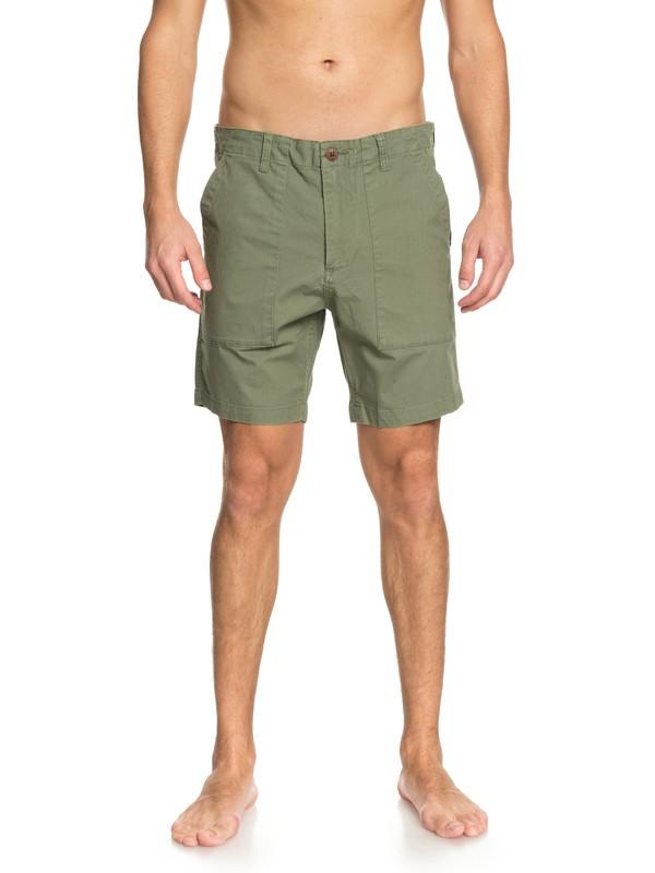 "0 Men  Goroka II de 20"" Shorts Verde EQYWS03507 Quiksilver"