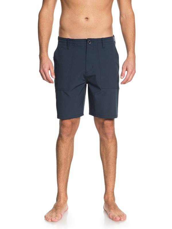 """0 Men  Tactics de 19"""" Shorts Amphibian Azul EQYWS03519 Quiksilver"""