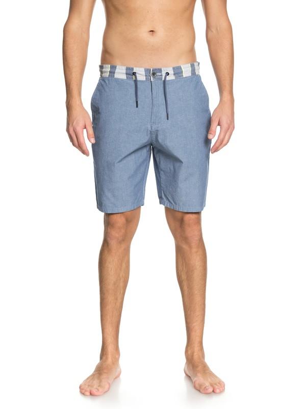 """0 Men Mad Wax Estampados de 19"""" Shorts Azul EQYWS03520 Quiksilver"""