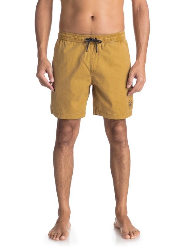 0 Пляжные шорты Tioga Коричневый EQYWS03523 Quiksilver