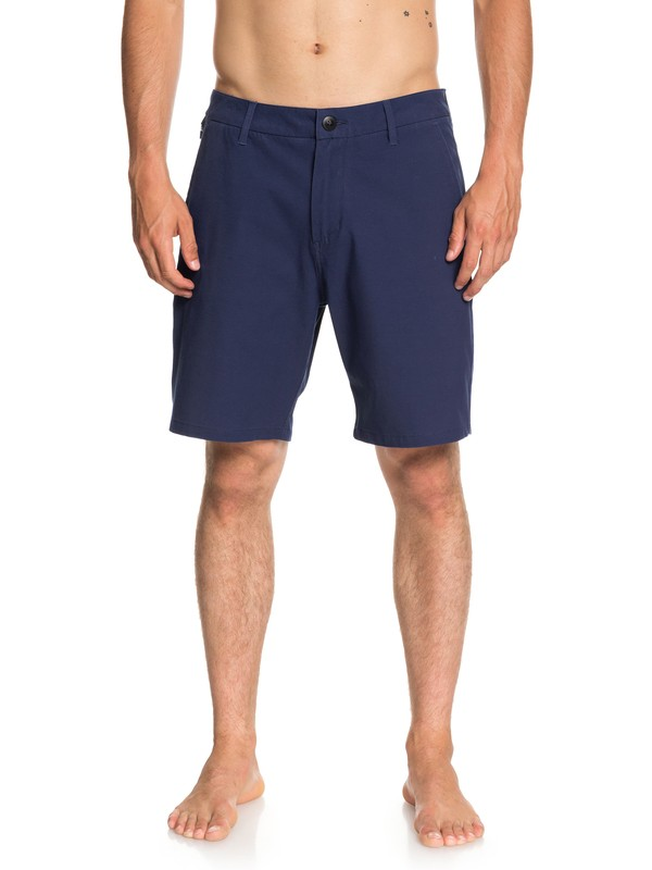 "0 Men's Echo Surf Wash 19"" Amphibian Shorts Blue EQYWS03532 Quiksilver"