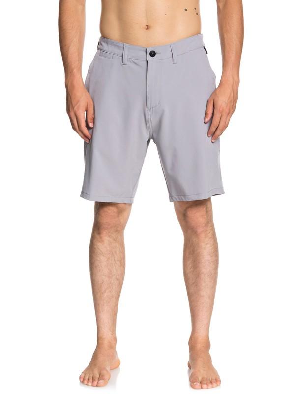 "0 Union 20"" Amphibian Shorts Grey EQYWS03537 Quiksilver"