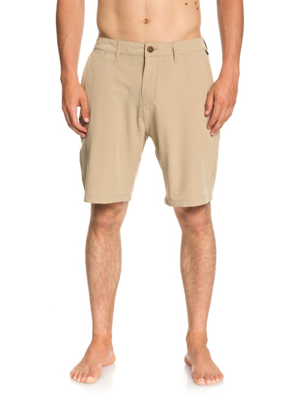 "0 Union Nep 20"" Amphibian Boardshorts Brown EQYWS03538 Quiksilver"