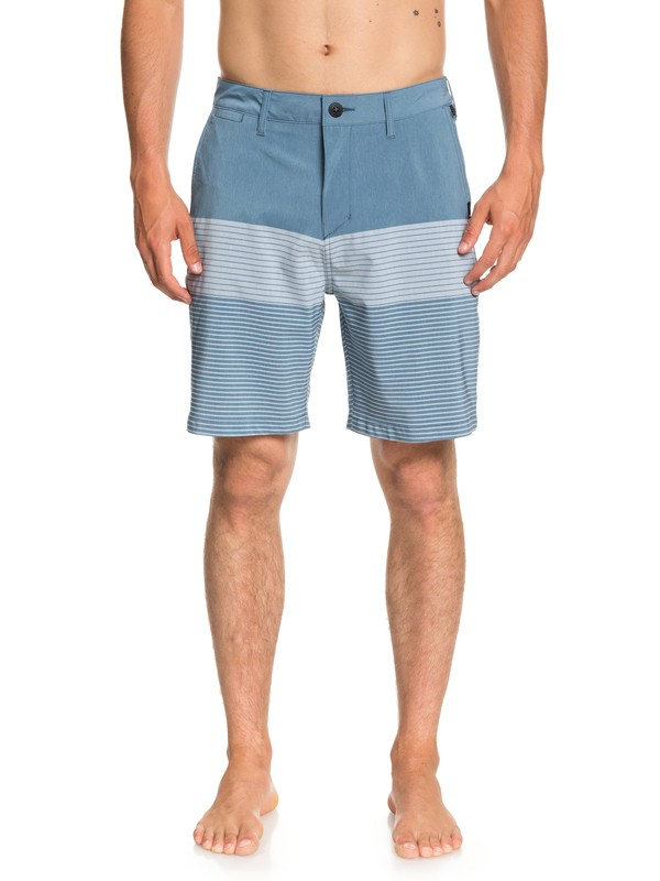"0 Men's Union Division 19"" Amphibian Shorts Blue EQYWS03539 Quiksilver"