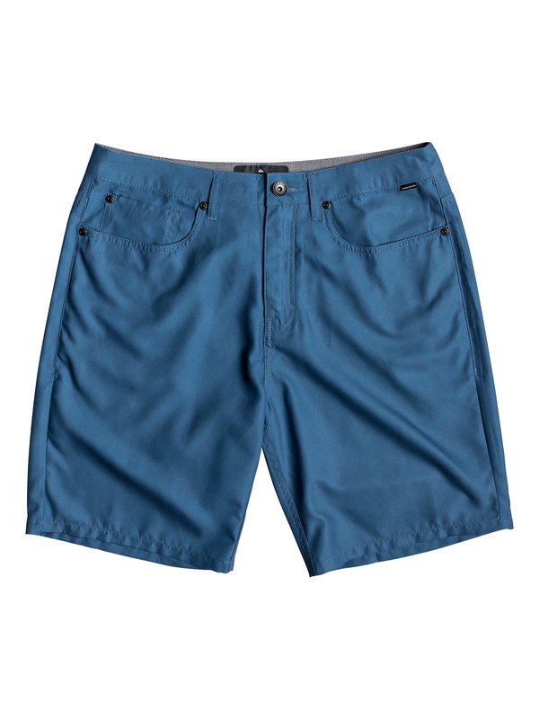 "0 Nelson Surfwash 18"" - Amphibian Board Shorts for Men Blue EQYWS03590 Quiksilver"