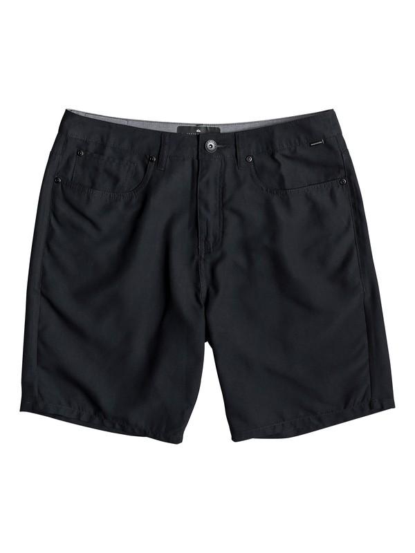 "0 Nelson Surfwash 18"" - Amphibian Board Shorts for Men Black EQYWS03590 Quiksilver"