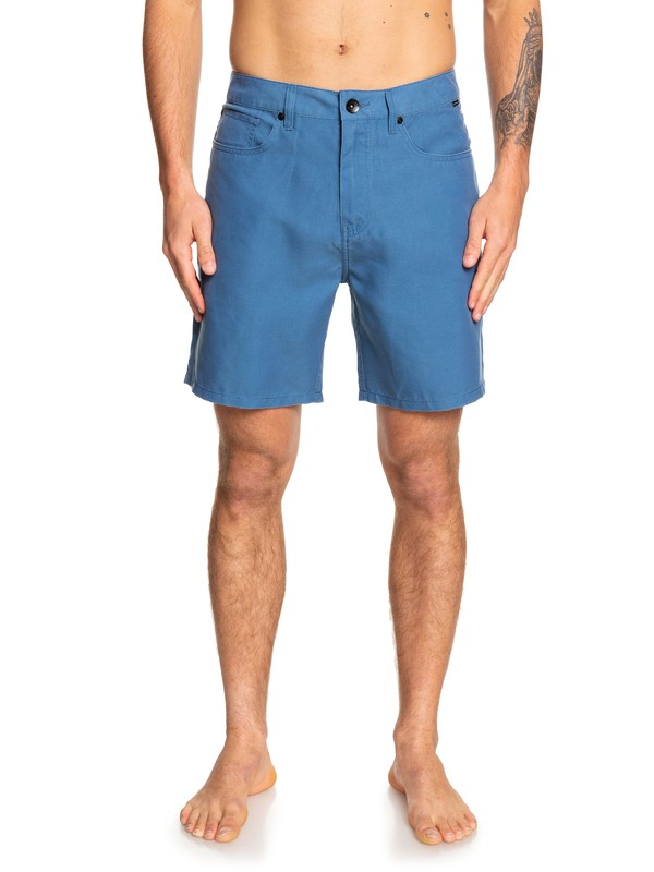 "0 Nelson Surfwash 18"" Amphibian Boardshorts Blue EQYWS03590 Quiksilver"