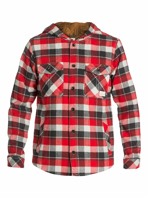 0 Wight Hooded Long Sleeve Flannel Shirt  EQYWT03010 Quiksilver