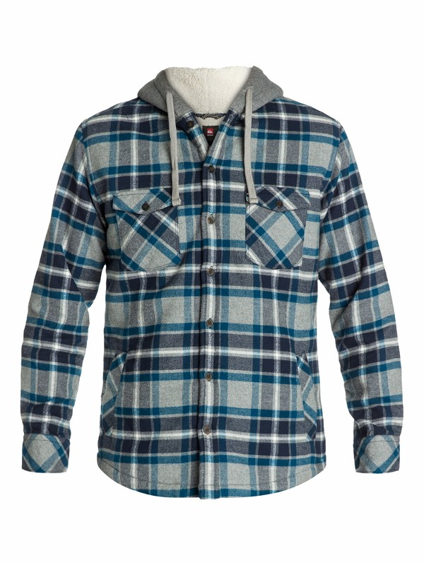 0 Grouper Flannel Long Sleeve Shirt  EQYWT03077 Quiksilver
