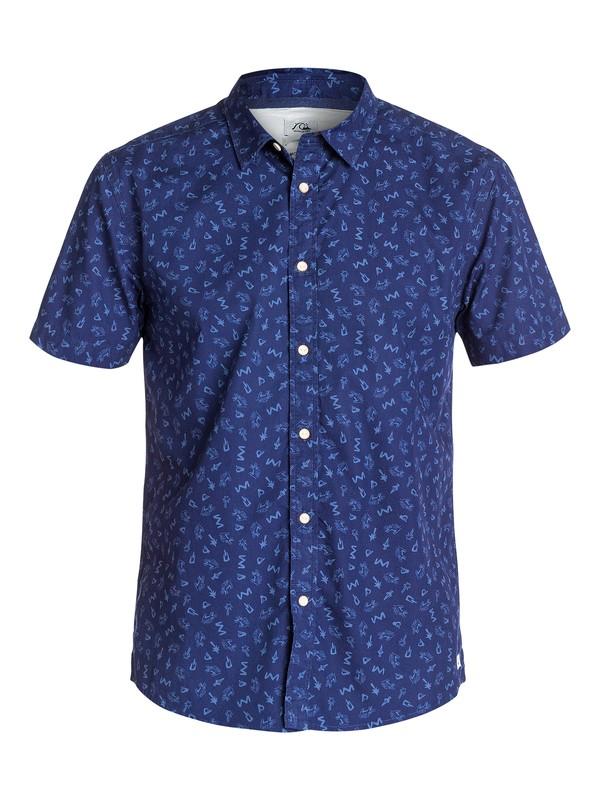 0 Ghetto  Short Sleeve Modern Fit Shirt  EQYWT03154 Quiksilver
