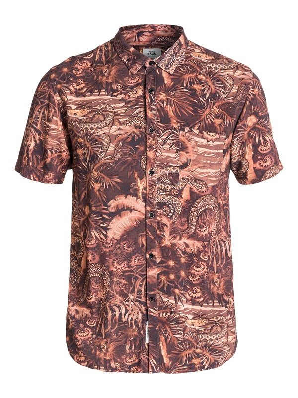 0 Python Jungle  Short Sleeve Slim Fit Shirt  EQYWT03158 Quiksilver