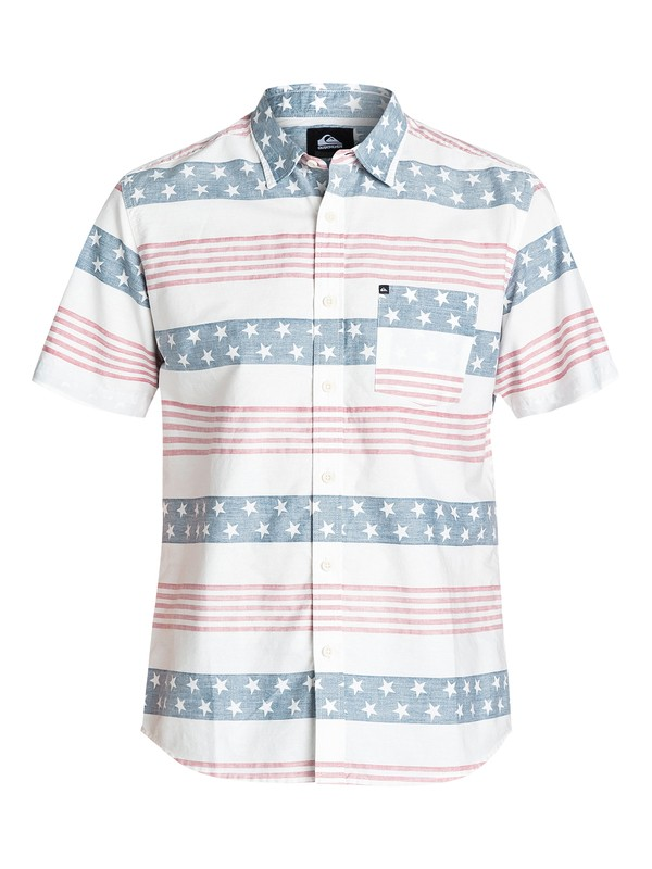 0 Merican Short Sleeve Regular Fit Shirt  EQYWT03172 Quiksilver