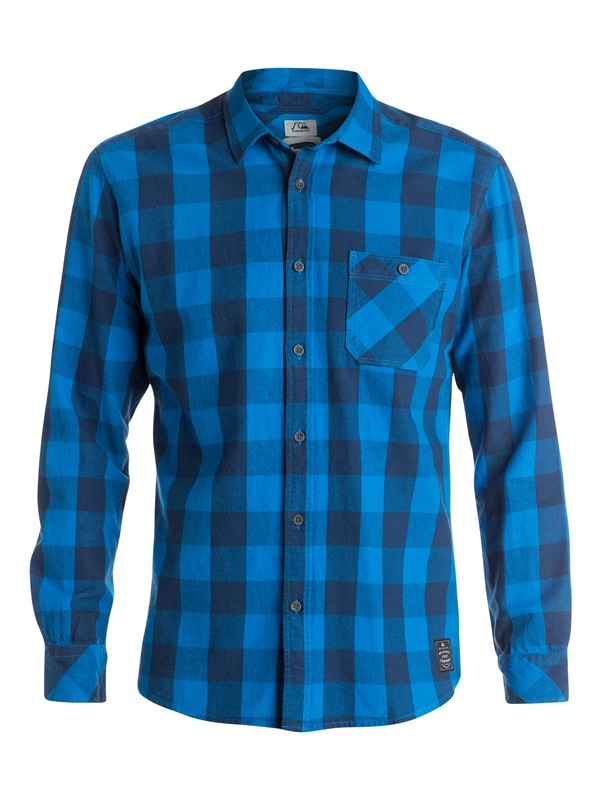 0 Motherfly Flannel Long Sleeve Modern Fit Shirt  EQYWT03175 Quiksilver