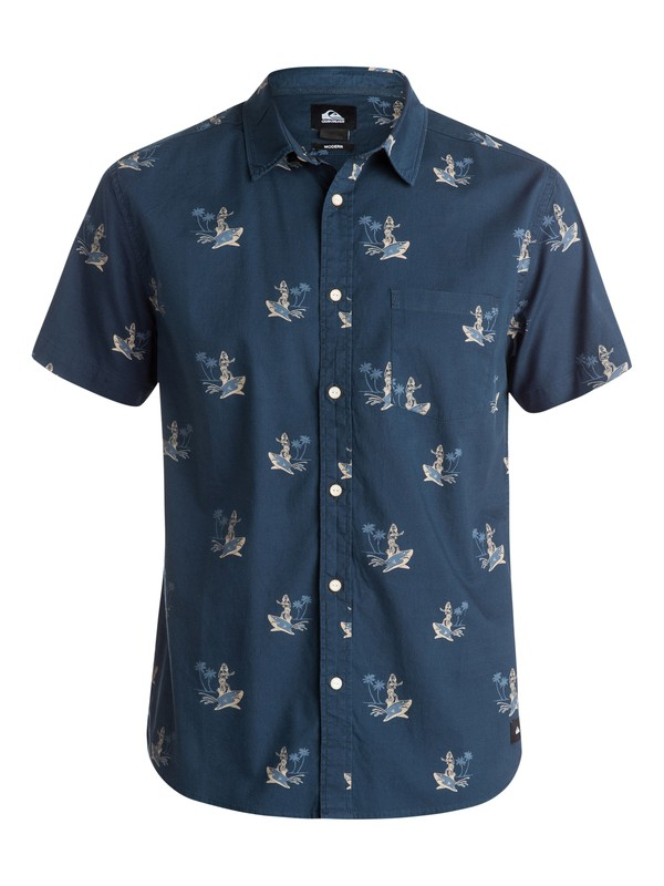0 Shark Hula Everyday Short Sleeve Shirt  EQYWT03245 Quiksilver