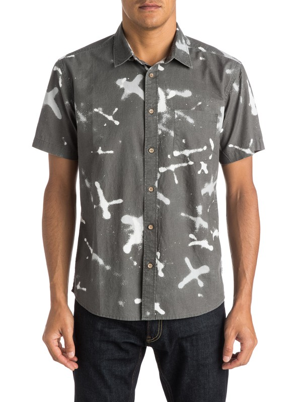 0 Markings Shirt Short Sleeve Shirt  EQYWT03274 Quiksilver