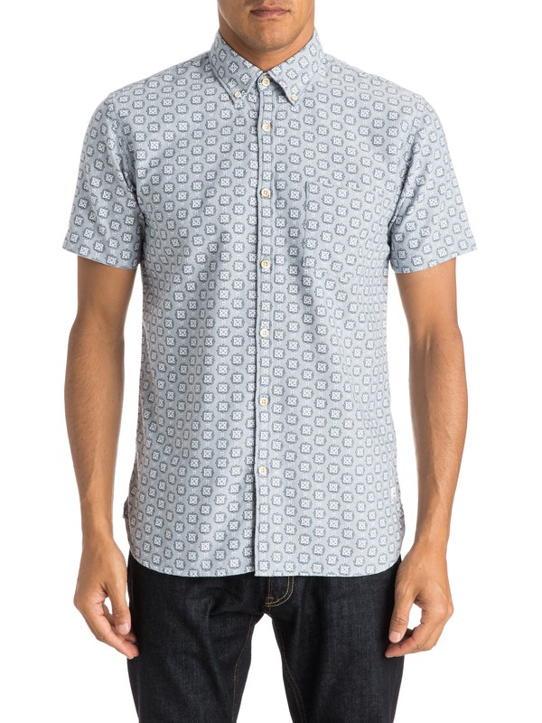 0 Plumes Oxford Short Sleeve Shirt  EQYWT03295 Quiksilver